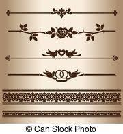 Decorative Line Clip Art Vector Clipart Of Dark Dividing Lines Elements For Design