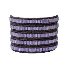 black leather wrap bracelet images Violet and antique black leather wrap bracelet kathryn king designs jpg