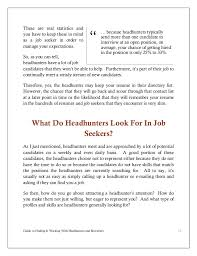 Resume In Job by Guide To Finding And Working With Headhunters And Recruiters Pdf