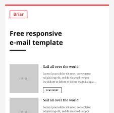 free responsive email template briar slicejack
