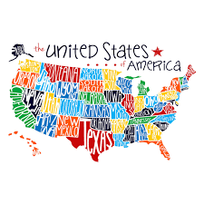 United States Map Of America by 24 X 36 In Multicolor Us Map Children U0027s Studio Art At Home At Home