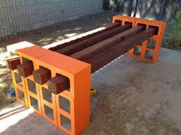 owl right cinderblock bench