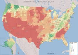 Boston County Map by Drought Duration By U S County Vivid Maps