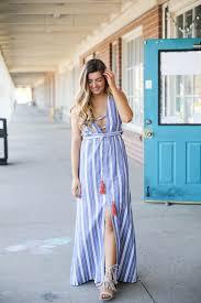 loving dresses nautical tassel maxi ootd daily dose of charm