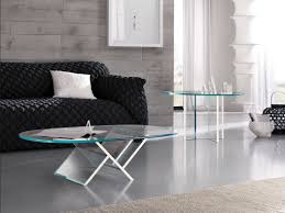 Wohnzimmertisch Oval Glas Ideen Couchtisch Oval Glas Holzglastisch Designer Couchtisch Und