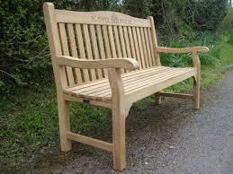 Engraved Benches Memorial Benches Warwick Fsc Teak Bench 1500