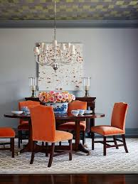 gray leather dining room chairs 25 trendy dining rooms with spunky orange