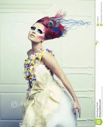 Beauty Garde Lady With Avant Garde Hair Royalty Free Stock Images Image 27439549