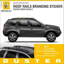 renault duster 2017 white duster roof rails white sticker amazon in car u0026 motorbike