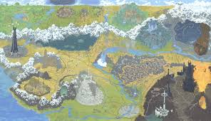 entire middle earth map artist andrew degraff does maps of lord of rings trek shining