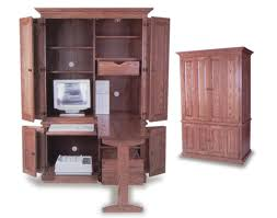 Amish Computer Armoire Amish Built Deluxe Computer Armoire Amish Office Furniture