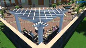 Pergola Designs With Roof by Triangular Pergola 11 U0027 X 11 U0027 X 15 U0027 7 U201d Centers With A Right Angle