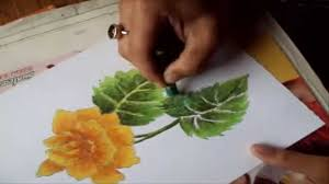 how to paint a rose painting a yellow rose in pastel color youtube