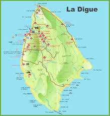 Holiday World Map by La Digue Island Map