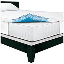 amazon com serta rest queen 3 inch gel memory foam mattress