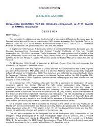 bureau notarial rosalinda bernardo vda de rosales complainant vs notary