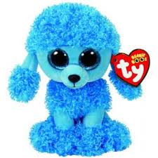 ty beanie boos regular mandy blue poodle brands toys pty