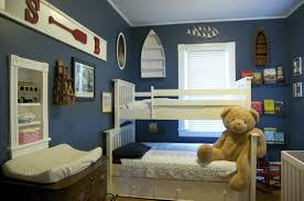 endearing boys bedroom colors with blue mattress color and red