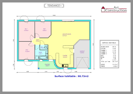 plan maison 3 chambre plain pied plan maison 80m2 plein pied plain 3 chambres p 0002f scarr co