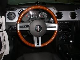 steering wheel for mustang 2005 wooden steering wheel the mustang source ford mustang forums