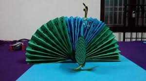 how to make a paper peacock origami peacock easy peacock paper