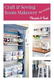 Craft Sewing Room - craft u0026 sewing space reveal diy home decor 100 room challenge