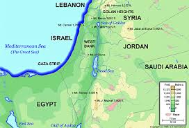 political map of israel israel today topographical map major mountains