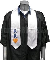 graduation scarf kappa kappa psi satin graduation stole with letters white
