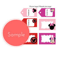 free minnie mouse party printable package baby shower ideas