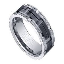 men tungsten rings images 8mm men 39 s tungsten ring w grooved black ceramic inlay jpg&a