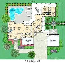 luxury home plans with elevators house plans with 5 car garage coastal luxury house plan floor