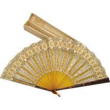 hand fans for sale antique french hand fan by ernest kees w original box art nouveau