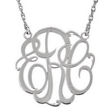monogram necklace white gold modern monogram necklace in 14k white gold j