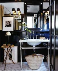 Black And White Powder Room Rattlebridge Farm Would You Paint A Room Black