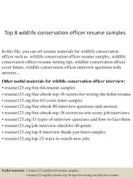 top 8 wildlife conservation officer resume samples 1 638 jpg cb u003d1434439354