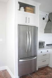 how to trim cabinet above refrigerator building a cabinet above the fridge kitchen renovation