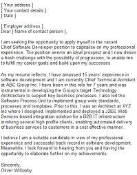 application developer cover letter
