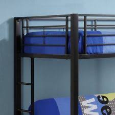 Metal Bunk Bed With Futon Walker Edison Sunset Metal Twin Over Futon Bunk Bed Frame In Black