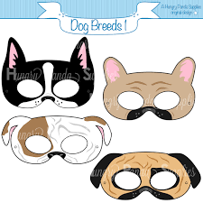 dog breed printable masks boston terrier mask pug mask