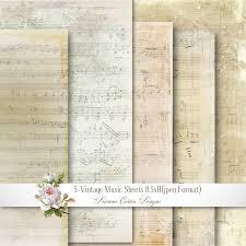 vintage music sheets 8 5x11 shabby chic paper music sheet