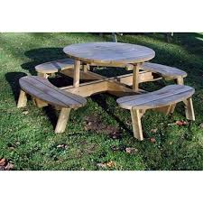How To Make A Round Wooden Picnic Table by How To Make A Round Picnic Table With Seats Diy Woodworking Ideas