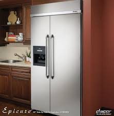 Best Cabinet Depth Refrigerator by Dacor Ef42nbss 42 Inch Built In Side By Side Refrigerator With