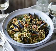 One Year Anniversary Dinner Ideas Special Seafood U0026 Saffron Pasta Recipe Bbc Good Food