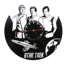 aliexpress com buy 1piece star trek gifts laser engraved clock