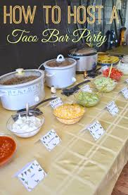 diy taco bar party table tents free printables taco bar party