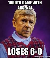 Meme Generator Game - 1000th game with arsenal loses 6 0 meme generator net arsenal meme