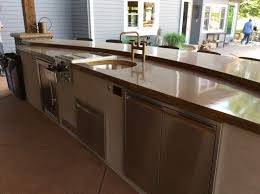 outdoor kitchen countertops material part 1 hi tech appliance