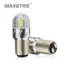 car brake light bulb 2x s25 1157 p21 5w 18w bay15d 3030 led light bulb car reverse backup