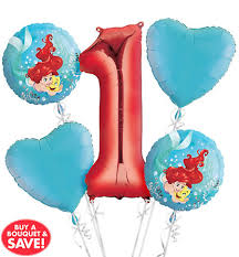 1st birthday balloon delivery mermaid ariel balloons