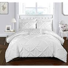 Twin Duvet Cover White Amazon Com 2 Piece Home Decor Chic Ruched Duvet Cover Sets Twin